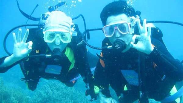 情人岛珊瑚潜水、带您走入海底世界、快艇、烧烤 一日游