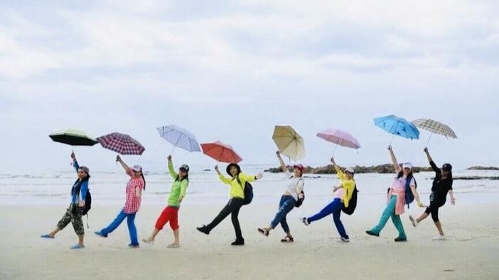 狮子岛海岸线穿越、捡海螺贝壳、徒步、一望无际的沙滩